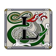 Celtic Dragon Art L Mousepad
