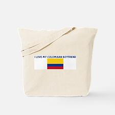 I LOVE MY COLOMBIAN BOYFRIEND Tote Bag
