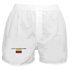 I LOVE MY COLOMBIAN BOYFRIEND Boxer Shorts