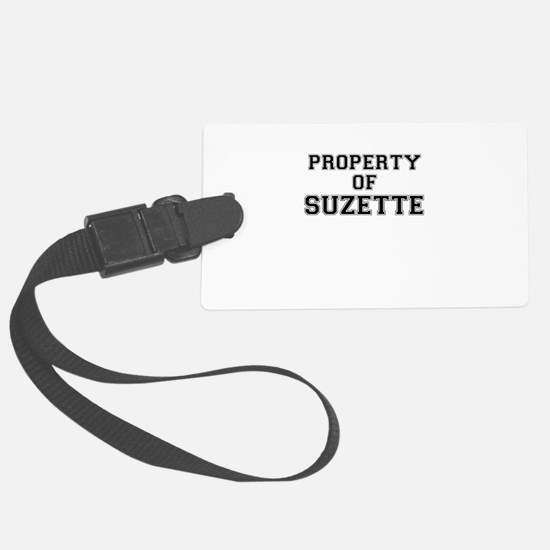 Property of SUZETTE Luggage Tag