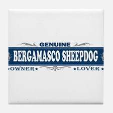 BERGAMASCO SHEEPDOG Tile Coaster