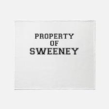 Property of SWEENEY Throw Blanket