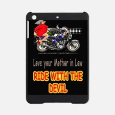 motorcycle rider with mother in law iPad Mini Case