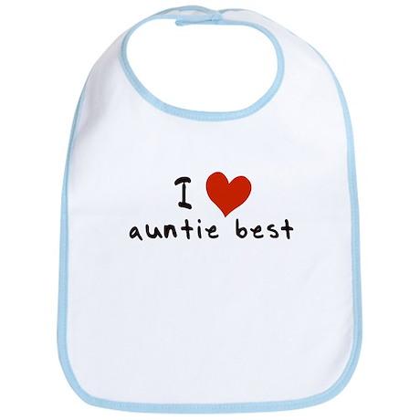 I LOVE AUNTIE BEST Bib