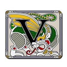 Celtic Dragon Art V Mousepad