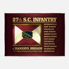27th SC Infantry 5'x7'Area Rug