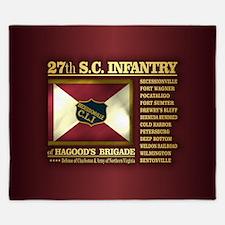 27th SC Infantry King Duvet