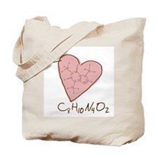 I Love Caffeine (pink) Tote Bag