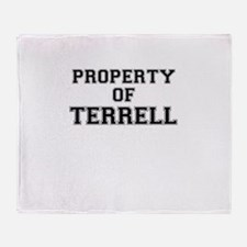 Property of TERRELL Throw Blanket