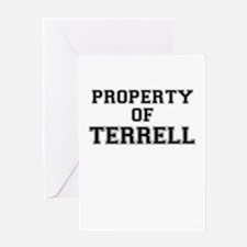 Property of TERRELL Greeting Cards