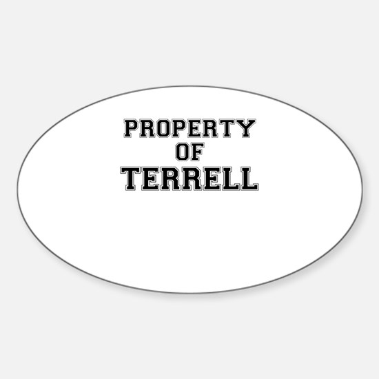Property of TERRELL Decal