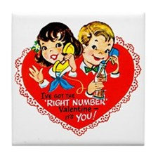 The Right Number Tile Coaster