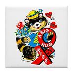 A Big Hug & Kiss Tile Coaster