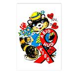 A Big Hug & Kiss Postcards (Package of 8)
