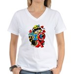 A Big Hug & Kiss Women's V-Neck T-Shirt