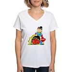 Apple of My Eye Women's V-Neck T-Shirt