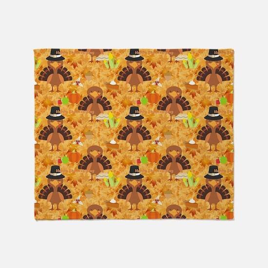 Cute Thanksgiving Throw Blanket