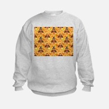 happy thanksgiving turkey Sweatshirt
