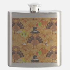happy thanksgiving turkey Flask