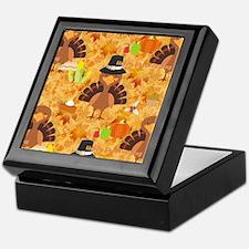 happy thanksgiving turkey Keepsake Box