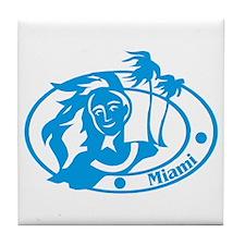 Miami Passport Stamp Tile Coaster