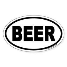BEER Euro Style Oval Decal
