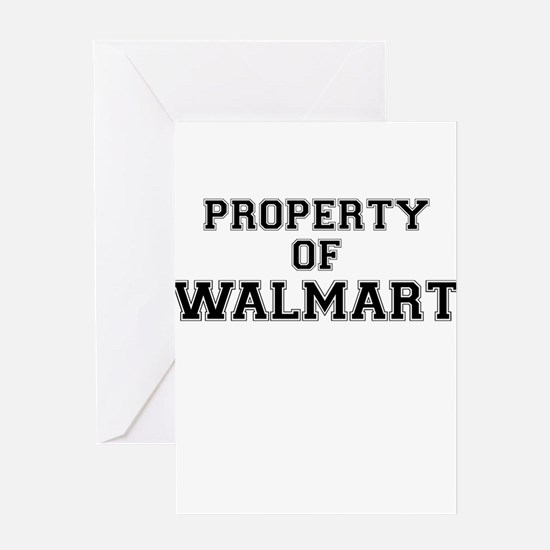 Property of WALMART Greeting Cards