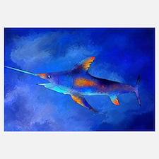 Funny Colourful big fish Wall Art
