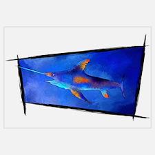 Unique Colourful big fish Wall Art