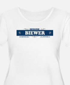 BIEWER Womens Plus-Size Scoop Neck T