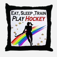 HOCKEY GIRL Throw Pillow
