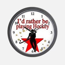 HOCKEY GIRL Wall Clock
