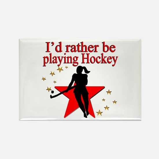 HOCKEY GIRL Rectangle Magnet