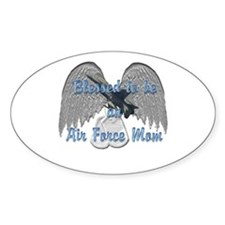 Blessed Air Force Mom Oval Decal