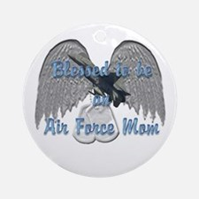 Blessed Air Force Mom Ornament (Round)