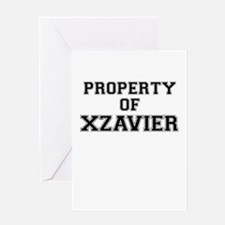 Property of XZAVIER Greeting Cards