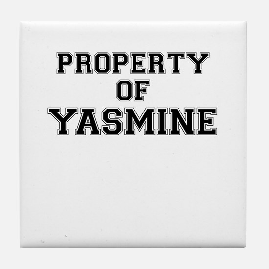 Property of YASMINE Tile Coaster
