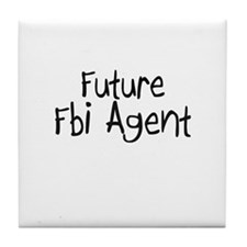 Future Fbi Agent Tile Coaster