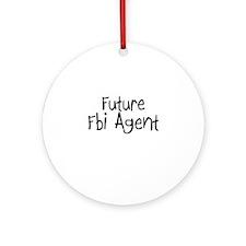 Future Fbi Agent Ornament (Round)