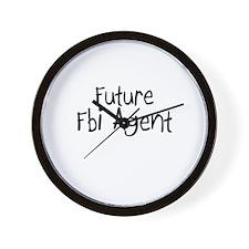 Future Fbi Agent Wall Clock