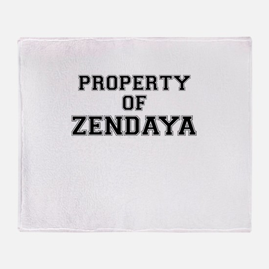 Property of ZENDAYA Throw Blanket