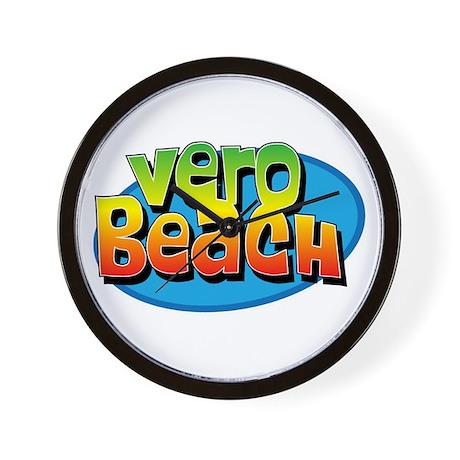 Vero Beach Florida Cartoon Souvenir Wall Clock