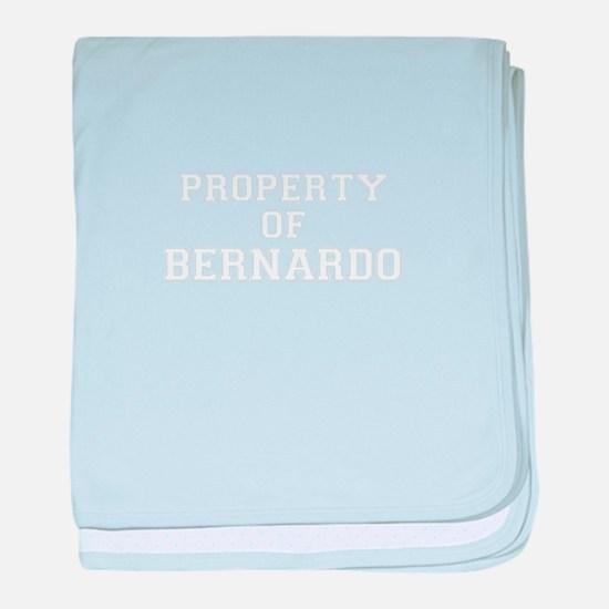 Property of BERNARDO baby blanket