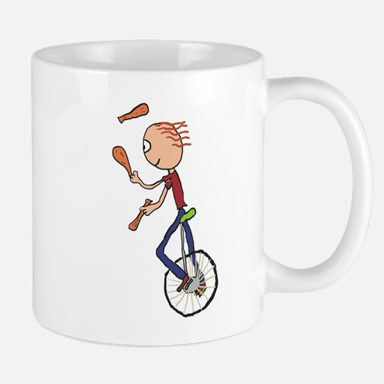 Unicycle Juggler Mugs