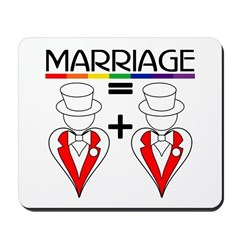 MARRIAGE EQUALS HEART PLUS HE Mousepad