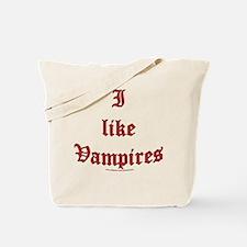 I like vampires Tote Bag