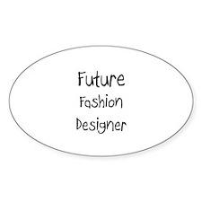Future Fashion Designer Oval Decal