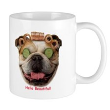 "Bulldog ""Hello Beautiful"" Mug"