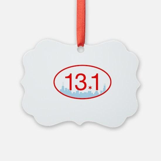 13.1 Chicago Half Marathon Ornament