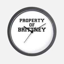 Property of BRITTNEY Wall Clock